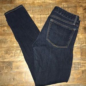 Gap always skinny jeans sz 26/2 ankle dark